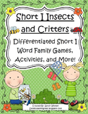 Short I Insects Differentiated Short I Word Family Games,