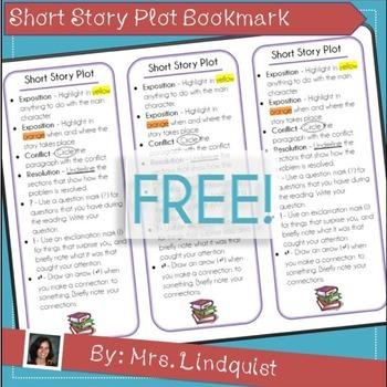 Short Story Plot Bookmark - Annotation