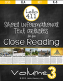 Short Text for Teaching Text Structure {Vol.3}: American R
