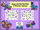 Short Vowel Games  {Bugs and Butterflies}