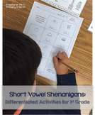 Short Vowel Shenanigans - Differentiated Activities for Fi
