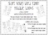 Short Vowel Word Family Foldable Books