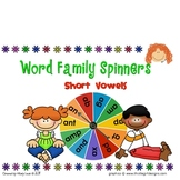 Short Vowel Word Family Spinners
