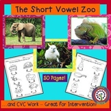 Short Vowel Zoo and CVC Word Work - Perfect for Kindergart