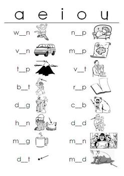 Worksheets Short Vowel A Worksheets short vowels lessons tes teach worksheets fill in the blanks teacherspayteachers com