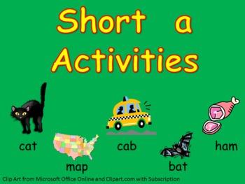 Short vowel a Word Work- Kindergarten 1st Grade Reading/ Writing