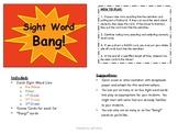 Sight Word BANG!