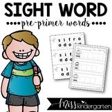 Sight Word Builders {pre-primer words}
