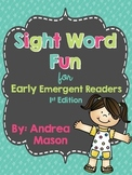 Sight Word Fun for Early Emergent Readers {Free Sample in