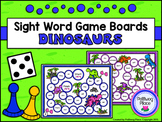 Sight Word Game Boards - Dinosaurs (Set of 10)