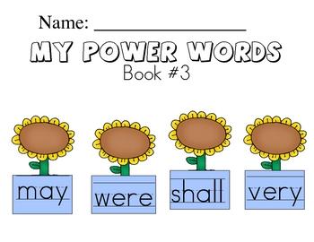 Sight Word Handwriting Workbook Book 3