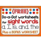 Sight Word Mini-Pack Freebie