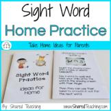 Editable Sight Word Parent Book