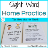 Editable Sight Word Parent Book
