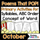 Sight Word Poetry & Shared Reading: Fall