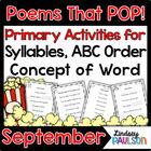 Sight Word Poem: Fall