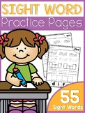Sight Word Practice Pages {50 pages}