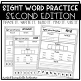 Sight Word Practice SECOND (Trace it. Write it. Build it.