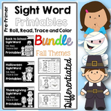 Sight Word Printables: Roll, Read, Trace & Color BUNDLE Pr
