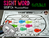 Sight Word Search for Kindergarten