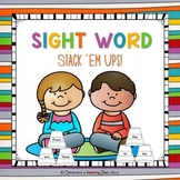Sight Word Stack Ups 1.1