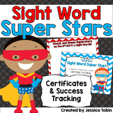 Sight Word Superhero Certificates