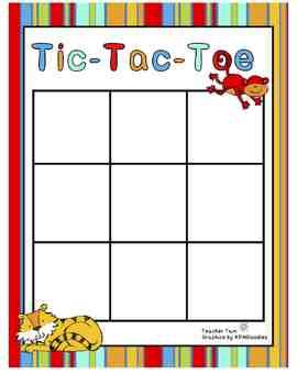 Sight Word Tic-Tac-Toe for Preschool, Kindergarten, First,