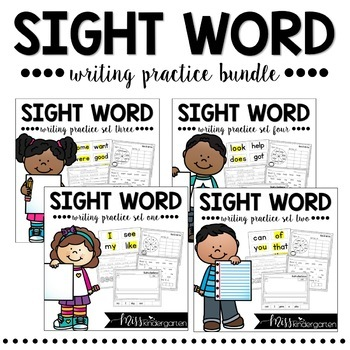 Sight Word Writing Practice {bundle pack}