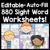 Sight Word Practice Pages {220 Words!}