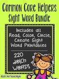 Sight Words Bundle - Read Color Circle Create Printables {