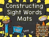 Fry's First 100 Sight Words Constructing Mats