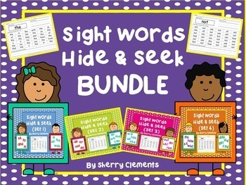 Sight Words Hide and Seek BUNDLE