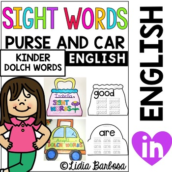 Sight Words on the Go- Purse and Carrying Case for Kindergarten