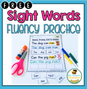 Sight Words Sentence Practice FREEBIE