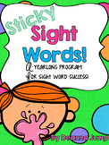 Sticky Sight Words {editable} Dolch List Sight word activities