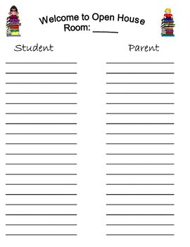 Sign in Sheets (Open House & Back to School Night)