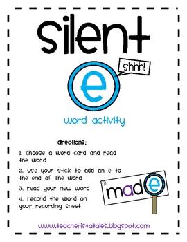 Silent E Word Activity