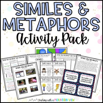Simile and Metaphor Activity Pack and Task Cards