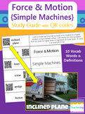 Simple Machines {Force & Motion} Study Guide with QR Codes