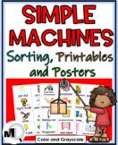 Simple Machines Sorting, Printables, & Posters (Color & Gr