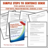 Simple Steps to Sentence Sense for Middle School