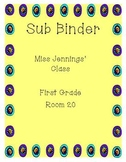 Simple Sub Plans--Sub Binder Template **Updated!**