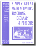 Simply Great Math Activities: Fractions, Decimals, and Percents