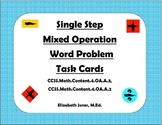 Single Step Mixed Operation Word Problem Task Cards