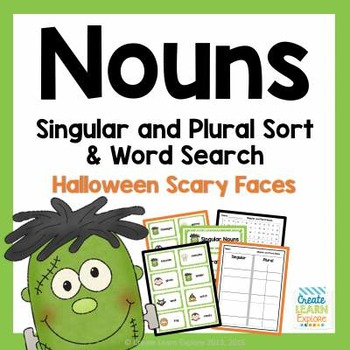 Singular and Plural Scary Noun Sort