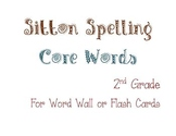 Sitton Spelling Core Word List for 2nd Grade - Color