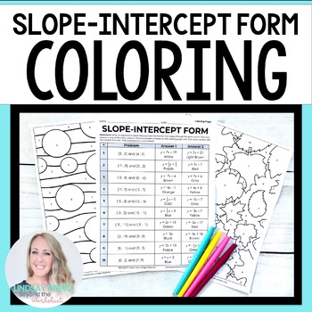 Slope Intercept Form Coloring Activity