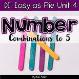 Small Group Math DI Easy as Pie, Unit 4 Num Combo 1-5 by K