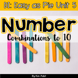 Small Group Math DI Easy as Pie, Unit 5 Num Combo 6-10 by