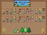 SmartBoard Attendance/Student Check-In Camping Kids Theme